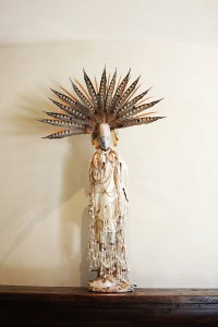 together interiors - tamara johnson - feather statue