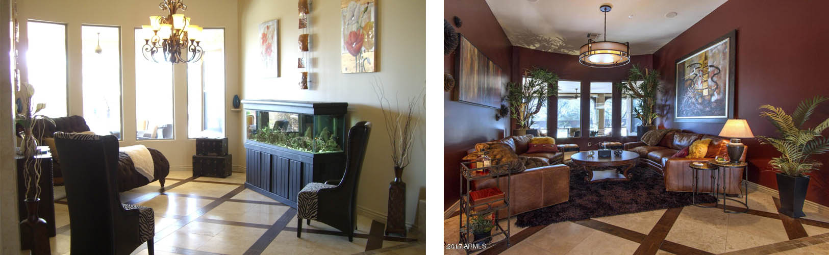 lang living room before - after makeover