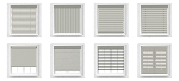 different styles of blinds