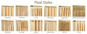 different pleat style
